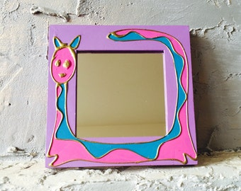 Mirror with Pink Cat
