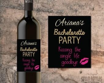 CUSTOM Bachelorette PARTY FAVORS, Bachelorette Party Wine, Goodbye Single Life, Wine Labels, Bachelorette Party Wine Labels, Wine Stickers