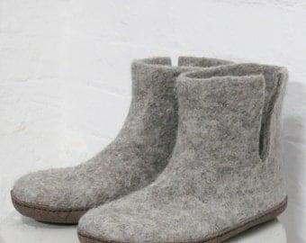 Bidi Handmade Felt Slipper Boots