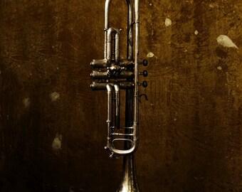 Art Print: 1937 Buescher Trumpet