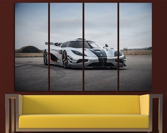 Koenigsegg Agera Large Canvas Print Wall Art Supercar Wall Art Cars Canvas Art Sport Cars Wall Art Supersport Print Poster Agera Wall Decor