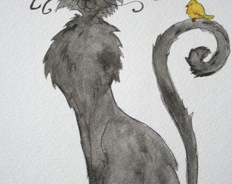 Creepy Cat and Canary