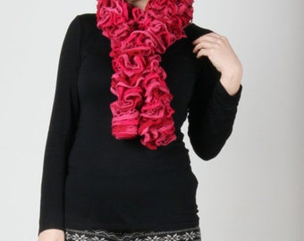 Shades of Pink Crochet Knit Scarf