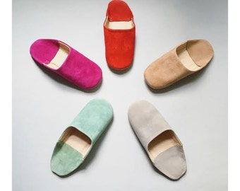 BULK CLOSEOUT Moroccan Style Babouche Suede Slippers Leather Slippers BOHO