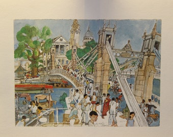 Franklin McMahon's Limited Edition Lithograph of Singapore