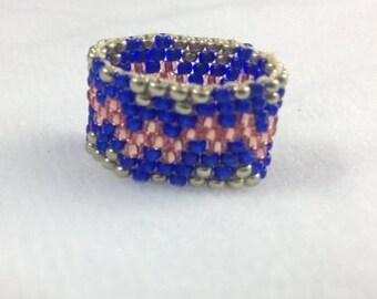 Double Zag Beaded Ring