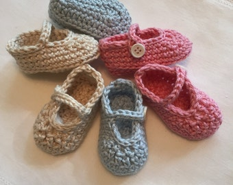 Newborn Cotton Mary Janes