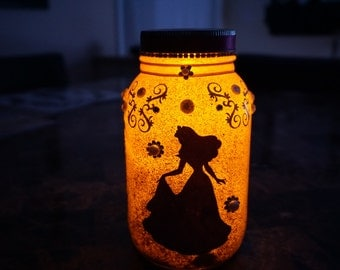 Disney Princess Mason Jar Lantern