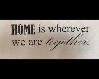 """Vinyl Wall Art - """"Home"""""""