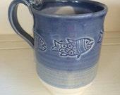 Blue Fish Ceramic Mug...