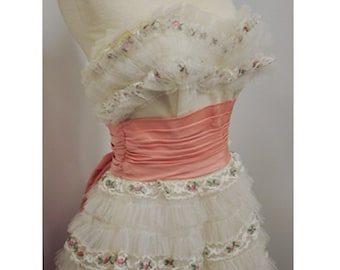 1950s Tulle Tier Dress