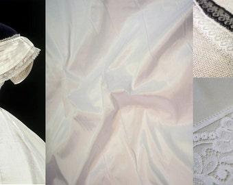 Custom Made Silk Taffeta Victorian Wedding Dress
