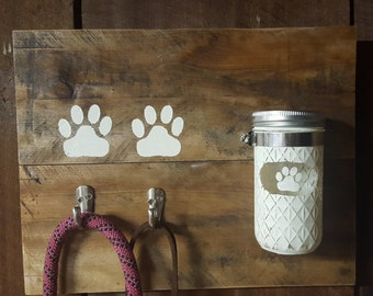 Handmade Dog Leash/Treat Holder
