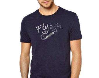 TRAFFIC PATTERN Dare to Fly Men Pilot / Aviator T-shirt