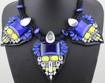 Art Deco Inspired Embellished Necklace