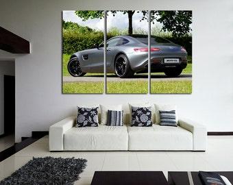 Mercedes GT Mercedes Canvas AMG Wall Decor AMG Wall Art Sport Car Print Mercedes Poster Mercedes Wall Decor Mercedes Wall Decor Top Gear