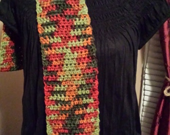 Crocheted Autumn Scarf