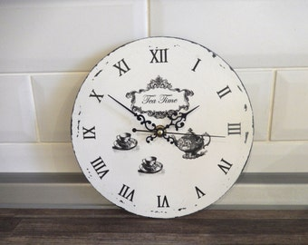small kitchen wall clock 8 inch 20 home decor wall clocks handmade. beautiful ideas. Home Design Ideas