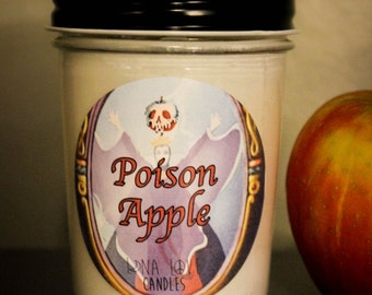 Poison Apple 100% Soy Candle Snow White Inspired Candle Disney