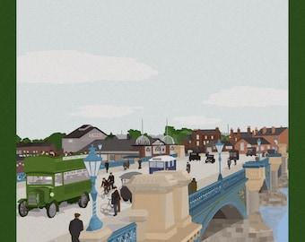 Trent Bridge, Nottingham Art Print