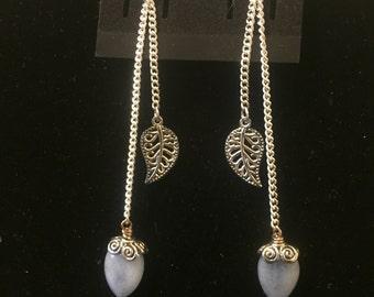 Angelite Leaf Earrings