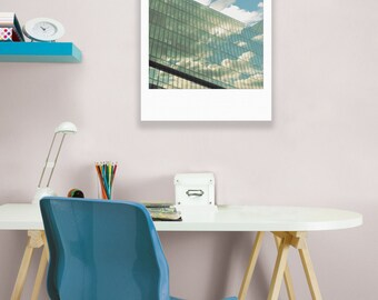 custom polaroid style cotton canvas print with copyright. Black Bedroom Furniture Sets. Home Design Ideas