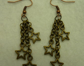 Earrings necklaces look with stars