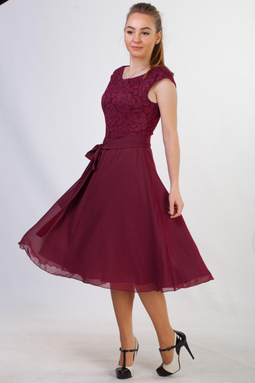 Short Burgundy Lace Dress Short Bridesmaid Dress Short