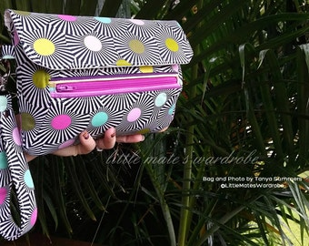 Zelie Clutch PDF Sewing Bag Pattern- Optional Wrist Strap and Shoulder Strap included -Pattern includes 2 sizes RLR Creations