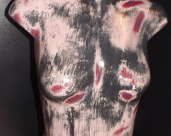 Distressed Black & Pink Female Mannequin