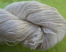 LACE Silk Singles Undyed Yarn, Ivory Single Ply Lace Weight Undyed Yarn,  Mulberry Silk Lace Yarn Base, Ecru Yarn Blank