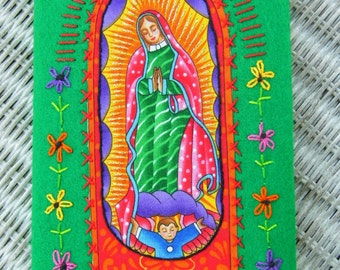 Fabric-covered Sketchbook - Our Lady of Guadalupe