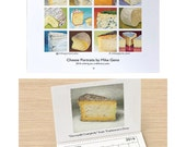 2016 wall calendar -cheese portrait paintings, food, art, cheese