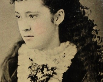 Antique Tintype Photograph - The Most Beautiful Young Woman In The World