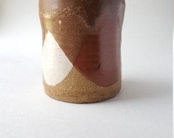 Funky Tri-Color Stoneware Vase - Pencil Cup