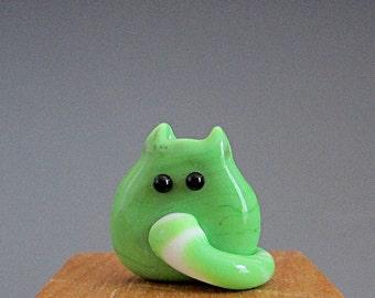 Cat Bead Handmade Lampwork Focal - Neal FatCat
