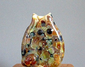 Tortie Cat Bead Handmade Lampwork Focal by teribeads - Twila FatCat