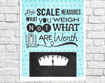 Weight Loss Journey Self Esteem Quote Print Teenage Girl Bathroom Wall Art Positive Affirmation Body Love Eating Disorder Recovery Self Love