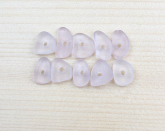 lavender beads, mini beads, genuine seaglass, chip nugget beads, purple glass beads, craft supplies, diy, tiny beads, beach glass beads, eco