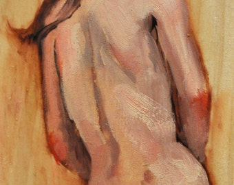 "Female Nude Figure painting called ""Hidden"""