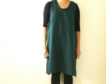 LINEN PINAFORE DRESS / linen dress / linen apron / linen tunic / linen smock / apron dress / women / made in australia / pamelatang