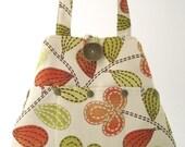shoulder tote, spring handbag, fabric tote bag, floral purse, shoulder bag, tote with pockets, shoulder purse, hobo bag