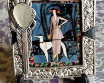 On Fleek Art Deco Sighthound Desk Art