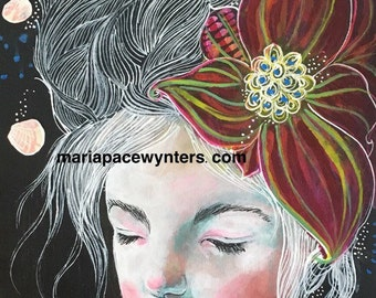 Blossoms and Blessings - Fine Art Reproduction by Maria Pace-Wynters