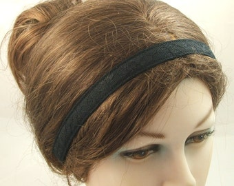 Lace overlay hairband by loobyloucrafts