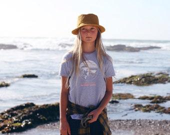 Mustard Corduroy Child Fedora Sun Hat