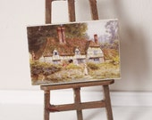 Dolls House Miniature Thatched English Cottage Canvas