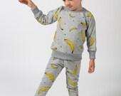 banana sweat pants baby toddler Supayana READY TO SHIP