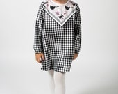 Flannel kitty dress Supayana fall 2016 //  6-12 months through size 6!
