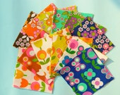 Retro 60s Butterflies and Spring Meadow alice apple fabric charm pack - 36 4 inch squares